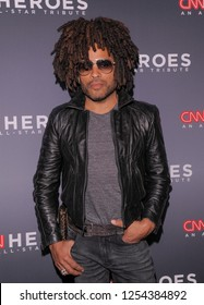 New York, NY - December 9, 2018: Lenny Kravitz attends the 12th Annual CNN Heroes: An All-Star Tribute at American Museum of Natural History