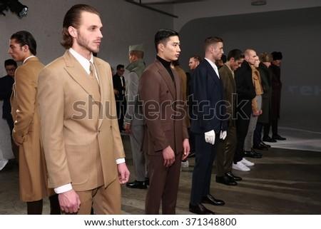 NEW YORK NY FEBRUARY 01 Models Stock Photo (Edit Now