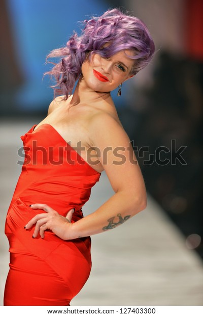 NEW YORK, NY - FEBRUARY 06: Kelly Osbourne wearing Zac Posen walks the runway at The Heart Truth's Red Dress Collection during Fall 2013 Mercedes-Benz Fashion Week on February 6, 2013, NYC.