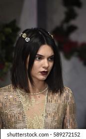 NEW YORK, NY - FEBRUARY 09: Kendall Jenner walks the runway at La Perla fashion show Fall/Winter 2017-2018 Ready To Wear Show on February 9, 2017 in New York City.