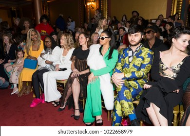 New York, NY - February 10, 2018: Larsen Thompson, Coco Rocha, Ioni James Conran, Laverne Cox, Whoopi Goldberg, Meg Ryan, Molly Shannon, Cardi B, Brad walsh, Jaimie Alexander attend Christian Siriano