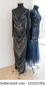 New York, NY - February 11, 2019: Dress by J. Mendel on display during Fall/Winter fashion week at The Standard East Village Penthouse