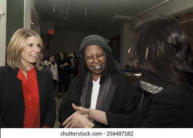 NEW YORK, NY - FEBRUARY 12, 2015: Nicole Wallace, Whoopi Goldberg and Stacy London  attend Marissa Webb show during MADE Fashion Week Fall 2015 at Milk Studios