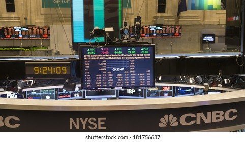 NEW YORK, NY - FEBRUARY 14, 2014: View of the trading floor of New York Stock Exchange