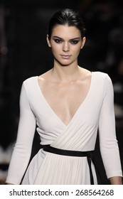 NEW YORK, NY - FEBRUARY 15: Model Kendall Jenner walk the runway at the Diane Von Furstenberg fashion show during MBFW Fall 2015 at Spring Studios on February 15, 2015 in NYC
