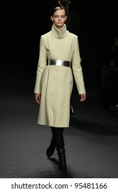 NEW YORK, NY - FEBRUARY 16: Model Nimue Smit walks the runway at the Calvin Klein Fall 2012 fashion show during Mercedes-Benz Fashion Week  on February 13, 2012 in New York City.