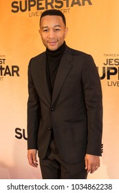 New York, NY - February 17, 2018: John Legend attends Jesus Christ Superstar Live in Concert Press Junket at Church of St. Paul the Apostle produced by NBC