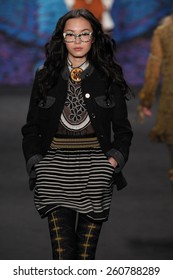 ceeadc14bb8c5 NEW YORK, NY - FEBRUARY 18: Model Xiao Wen Ju walks the runway at