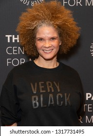 New York, NY - February 19, 2019: Michaela Angela Davis attends an evening with BET's American Soul at Paley Center for Media