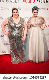 New York, NY - February 2, 2018: Angela Meade and Loryn Pretorius attend New York 63rd Viennese Opera Ball at Ziegfeld ballroom