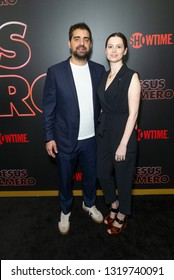 New York, NY - February 21, 2019: Tony Hernandez and Lilly Burns attend Showtime debut of Late-Night Series DESUS & MERO at the Clocktower New York Edition