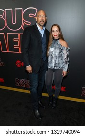 New York, NY - February 21, 2019: Ruben Diaz Jr and Hilda Diaz attend Showtime debut of Late-Night Series DESUS & MERO at the Clocktower New York Edition