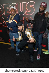 New York, NY - February 21, 2019: Tracy Morgan, The Kid Mero, Desus Nice attend Showtime debut of Late-Night Series DESUS & MERO at the Clocktower New York Edition