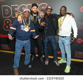 New York, NY - February 21, 2019: Tracy Morgan, The Kid Mero, Desus Nice, Sharkey attend Showtime debut of Late-Night Series DESUS & MERO at the Clocktower New York Edition