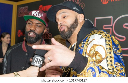 New York, NY - February 21, 2019: Desus Nice and The Kid Mero attend Showtime debut of Late-Night Series DESUS & MERO at the Clocktower New York Edition