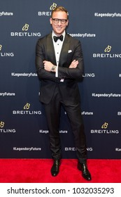 New York, NY - February 22, 2018:  Luc Wiesman attends Breitling #LEGENDARYFUTURE Roadshow 2018 at Duggal Greenhouse Navy Yard