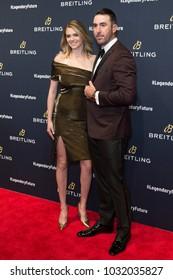 New York, NY - February 22, 2018: Kate Upton & Justin Verlander attend Breitling #LEGENDARYFUTURE Roadshow 2018 at Duggal Greenhouse Navy Yard
