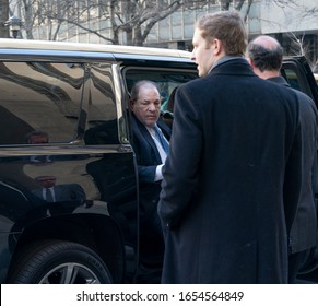 New York, NY - February 24, 2020: Disgraced Hollywood producer Harvey Weinstein arrives for another day of jury deliberations on sexual assault charges at New York state supreme criminal court