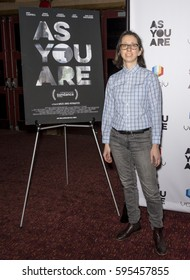 NEW YORK, NY - FEBRUARY 24, 2017:  Editor Abbi Jutkowitz attends 'As You Are' New York Premiere at Village East Cinema