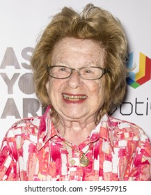 NEW YORK, NY - FEBRUARY 24, 2017: Dr. Ruth Westheimer attends 'As You Are' New York Premiere at Village East Cinema