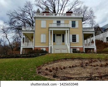 New York, NY - February 25 2018: Hamilton Grange National Memorial, the relocated home of founding father Alexander Hamilton