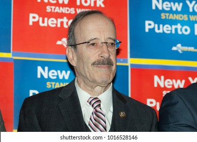 New York, NY - February 3, 2018: Congressman Eliot Engel attends at New York stands with Puerto Rico rally at Casita Maria Center for Arts and Education in the Bronx