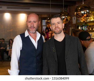 New York, NY - February 4, 2019: Samuel Cirnansck and Luciano Gobbo attend SCK by Samuel Cirnansck and Luciano Gobbo Jewelry at New York Fashion Experience Benefit Show at San Carlo Osteria Piemonte