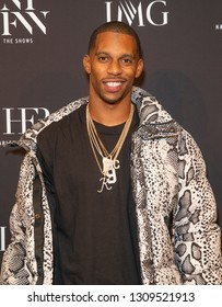 New York, NY - February 6, 2019: Victor Cruz attends IMG and Harlem Fashion Row Host Next Of Kin: An Evening Honoring Ruth Carter at Spring Studios