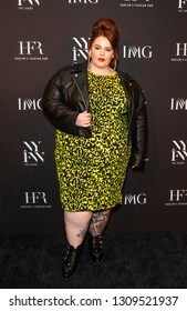 New York, NY - February 6, 2019: Model Tess Holliday attends IMG and Harlem Fashion Row Host Next Of Kin: An Evening Honoring Ruth Carter at Spring Studios