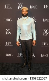 New York, NY - February 6, 2019: Odell Beckham Jr attends IMG and Harlem Fashion Row Host Next Of Kin: An Evening Honoring Ruth Carter at Spring Studios