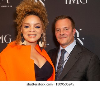 New York, NY - February 6, 2019: Ruth Carter and Ivan Bart attend IMG and Harlem Fashion Row Host Next Of Kin: An Evening Honoring Ruth Carter at Spring Studios