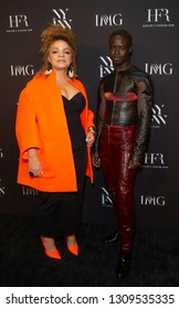 New York, NY - February 6, 2019: Ruth Carter and Ibrahim Kamara attend IMG and Harlem Fashion Row Host Next Of Kin: An Evening Honoring Ruth Carter at Spring Studios