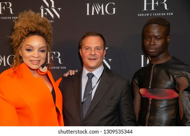 New York, NY - February 6, 2019: Ruth Carter, Ivan Bart and Ibrahim Kamara attend IMG and Harlem Fashion Row Host Next Of Kin: An Evening Honoring Ruth Carter at Spring Studios