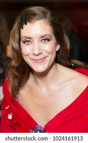 New York, NY - February 8, 2018: Kate Walsh prepares backstage for Red Dress 2018 Collection Fashion Show at Hammerstein Ballroom