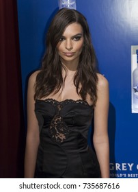 New York, NY - February 8, 2015: Emily Ratajkowski attends the GREY GOOSE and Stadiumred New York VIP Grammy Awards Party at Liberty Theater