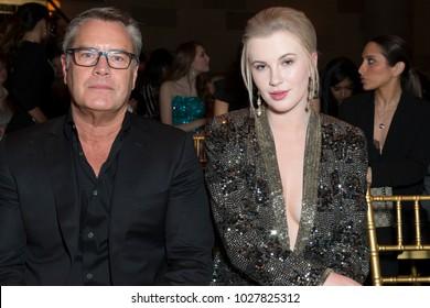 New York, NY - February 9, 2018: Peter Cook & Ireland Baldwin attend runway for Sherri Hill Autumn/Winter 2018 runway at New York Fashion Week at Gotham Hall