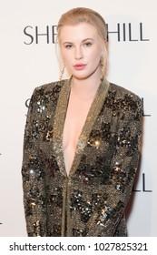 New York, NY - February 9, 2018: Ireland Baldwin attends runway for Sherri Hill Autumn/Winter 2018 runway at New York Fashion Week at Gotham Hall