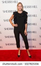 New York, NY - February 9, 2018: Kristen Taekman attends runway for Sherri Hill Autumn/Winter 2018 runway at New York Fashion Week at Gotham Hall