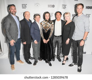 New York, NY - Jan 10, 2019: Evan Hayes, Bob Eisenhart, Mikey Schaffer, Elizabeth Chai Vasarhelyi, Jimmy Chin, Shannon Drill , Clair Popkings attend 12th Cinema Eye Honors at Museum of Moving Imaga