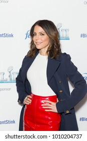New York, NY - Jan 25, 2018: Bethenny Frankel wearing Valentino skirt, Altuzzara coat and Louboutin shoes attends Febreze Launches New Super Bowl Ad Campaign at a public appearance at The Ainsworth