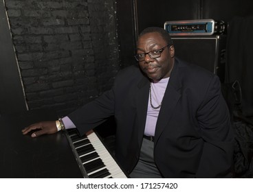 NEW YORK, NY - JANUARY 10, 2014: Cyrus Chestnut performs with Sharel Cassity quintet on stage as part of New York City Winter Jazz Festival at Groove Revive Music Stage Bar
