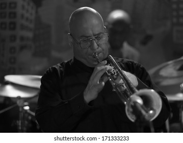 NEW YORK, NY - JANUARY 10, 2014: Sharel Cassity Quintet performs on stage as part of New York City Winter Jazz Festival at Groove Revive Music Stage