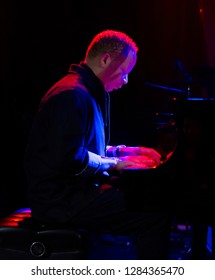 New York, NY - January 12, 2019: Craig Taborn performs duo with Vijay Iyer during Winter JazzFest on ECM Records stage at Le Poisson Rouge
