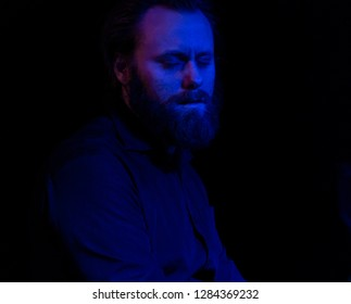 New York, NY - January 12, 2019: Andreas Ulvo on piano performs with Mathias Eick and band during Winter JazzFest on ECM Records stage at Le Poisson Rouge