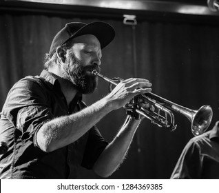 New York, NY - January 12, 2019: Mathias Eick and band perform during Winter JazzFest on ECM Records stage at Le Poisson Rouge