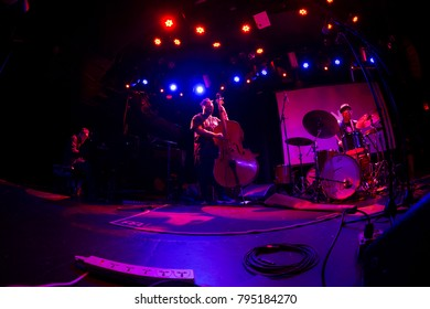 New York, NY - January 12, 2018: Sullivan Fortner Trio perform during 2018 New York Winter Jazz Festival