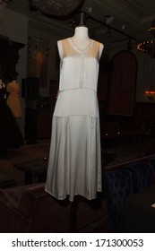 NEW YORK, NY - JANUARY 13, 2014: Vintage dress by Francisco Costa for Calvin Klein on display at the Vintage Vanguard event benefiting Dress For Success at Jane Hotel in New York City