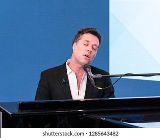 New York, NY - January 15, 2019: Rufus Wainwright performs at WebMD Health Hero Awards ceremony at WebMD Corporate Headquarter