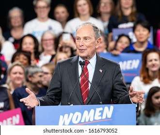 New York, NY - January 15, 2020: Mike Bloomberg Democratic Presidential candidate speaks during Mike Bloomberg 2020 launch Women for Mike at Sheraton New York