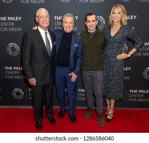 New York, NY - January 16, 2019: Henry Schlieff, John Walsh, Callahan Walsh, Paula Zahn attend In Pursuit With John Walsh Screening & Conversation at The Paley Center for Media